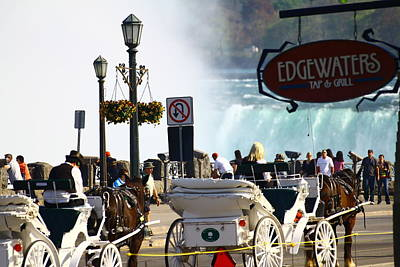 Niagara Falls Carriage Ride Poster by Rexford L Powell