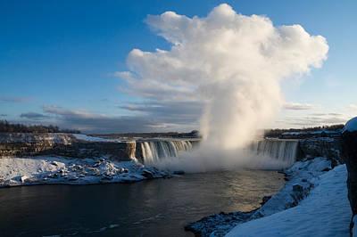 Niagara Falls Makes Its Own Weather Poster by Georgia Mizuleva