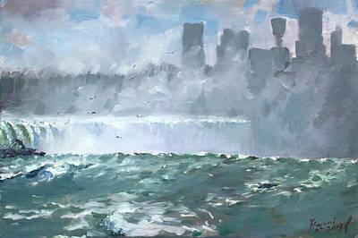Niagara  Falls Mist  Poster by Ylli Haruni
