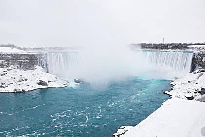 Niagara Falls Misty Winter Wonderland Poster