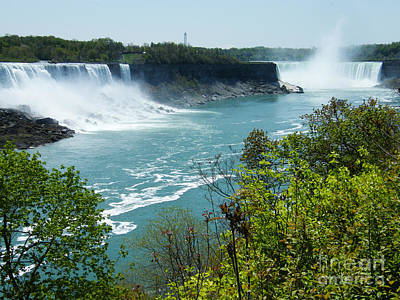 Poster featuring the photograph Niagara Falls - Springtime by Phil Banks