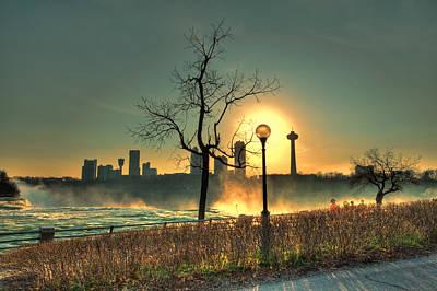 Niagara Sunset Poster by Chris Babcock