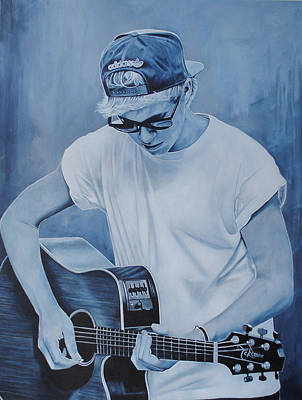 Poster featuring the painting Niall Horan by David Dunne