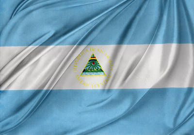 Nicaraguan Flag Poster by Les Cunliffe