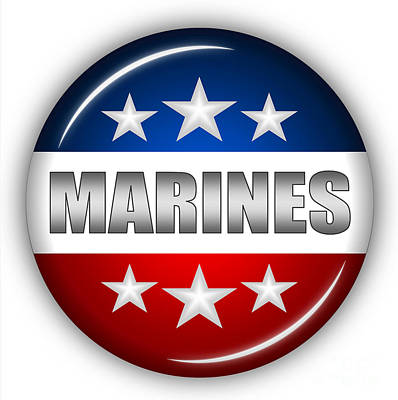 Nice Marines Shield Poster by Pamela Johnson