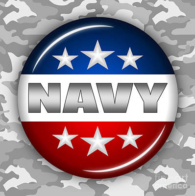 Nice Navy Shield 2 Poster by Pamela Johnson