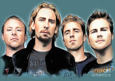 Nickelback Poster by Melanie D