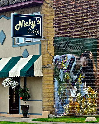 Nicky's Cafe Poster by Frozen in Time Fine Art Photography