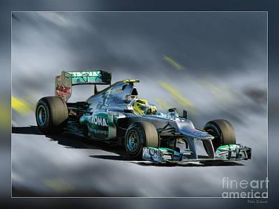 Nico Rosberg Mercedes Benz Poster