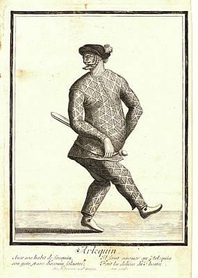 Nicolas Bonnart French, 1636 - 1718. Larlequin Poster