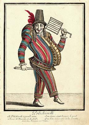 Nicolas Bonnart French, 1636 - 1718. Polichinelle Poster
