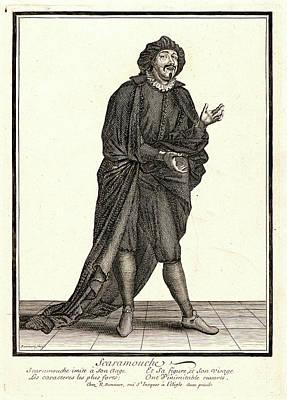 Nicolas Bonnart French, 1636 - 1718. Scaramouche Poster