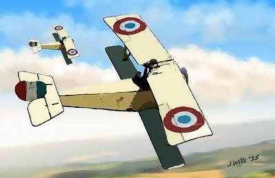 Nieuport 11 Bebe Poster by John Wills