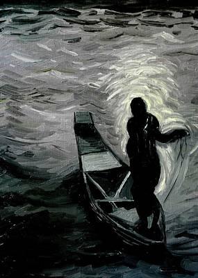 Niger River At Night Poster