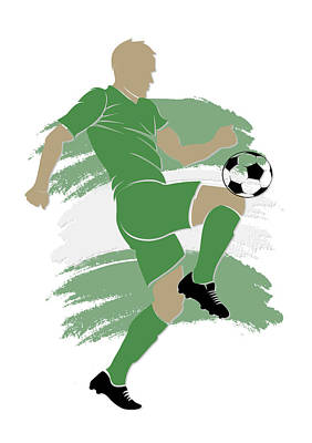 Nigeria Soccer Player Poster