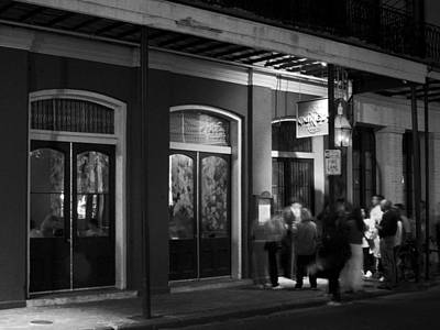 Night At Muriel's Jackson Square In Black And White Poster