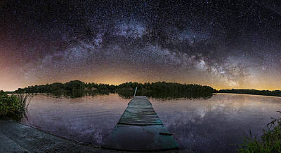 Night At The Lake  Poster by Aaron J Groen