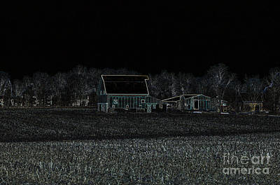 Night Barns Poster by Alys Caviness-Gober