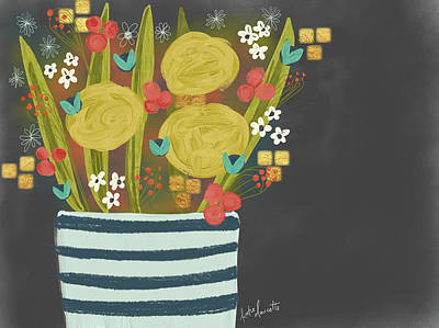 Night Bouquet Poster by Katie Doucette