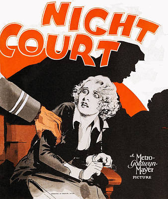 Night Court, Poster Art, 1932 Poster