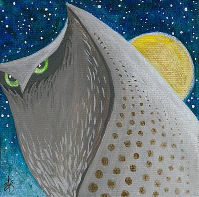 Night Falls-owl 1 Poster