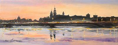 Night In Krakow Poster