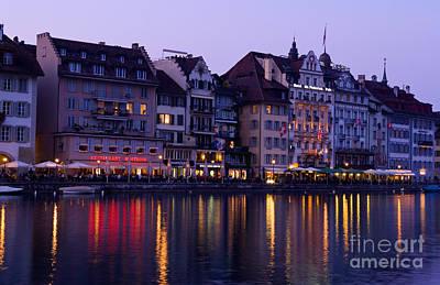 Night In Lucerne, Switzerland Poster