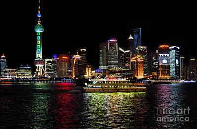 Night In Pudong Poster by Alexandra Jordankova