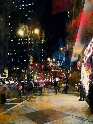 Night In The City Poster by John Rivera