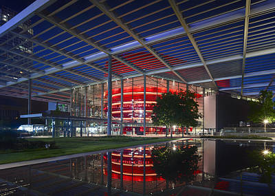 Night Lights Of The Winspear Opera House - Dallas Poster