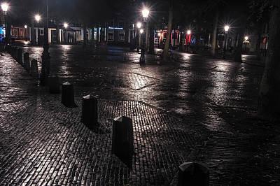 Night Lights Of Utrecht 1. Netherlands Poster by Jenny Rainbow