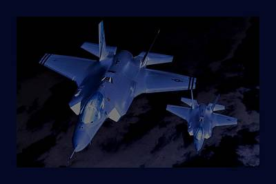 Night Mission Lockheed Martin F-35 Lightening II Poster by L Brown