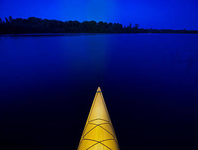 Night Paddle Poster by Steve Gadomski