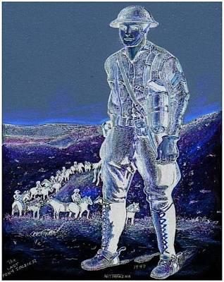 Night Rider  Poster by Ray Tapajna