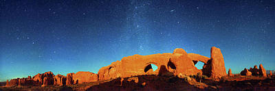 Night Sky Over Arches National Park Poster