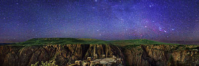 Night Sky Over Black Canyon Poster