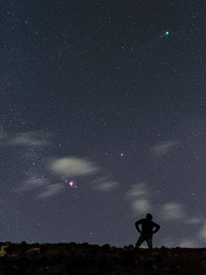 Night Sky Over Canary Islands Poster