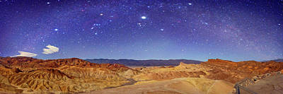 Night Sky Over Death Valley Poster