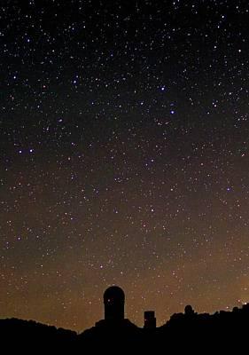 Night Sky Over Kitt Peak Observatory Poster