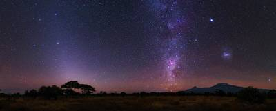 Night Sky Over Mount Kilimanjaro Poster