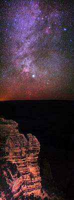Night Sky Over The Grand Canyon Poster