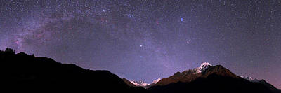 Night Sky Over The Himalayas Poster by Babak Tafreshi