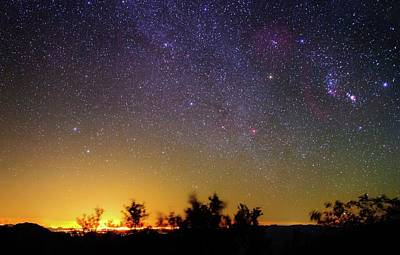 Night Sky Over Tucson Poster