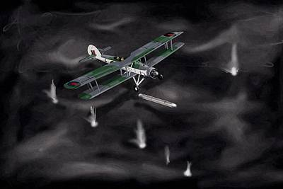 Night Strike Swordfish 1941 Poster by Paul Hughes