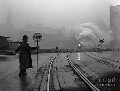 Night Train Thru Fog Poster