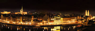 Nighttime In Zurich Poster by Marc Huebner