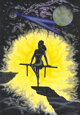 Poster featuring the painting Nightwish by Kenneth Clarke