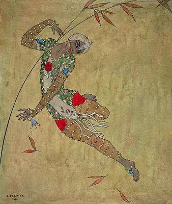Nijinsky In 'le Festin/ L'oiseau D'or' Poster by Georges Barbier
