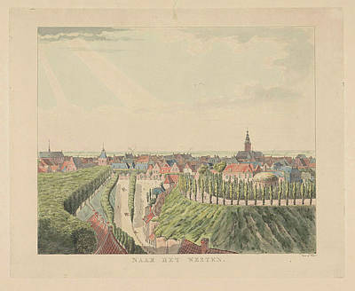 Nijmegen, View From The Belvedere To The West, Stevens Poster by Derk Anthony Van De Wart