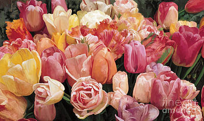 Poster featuring the painting Nikki's Tulips by Tim Gilliland